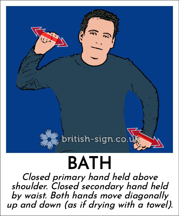 Bath in British Sign Language (BSL)