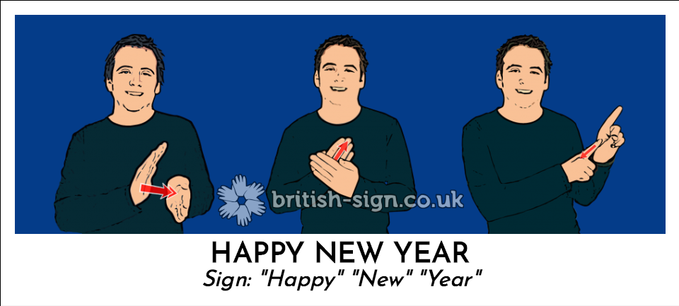 "Happy New Year: Sign: ""Happy"" ""New"" ""Year"""
