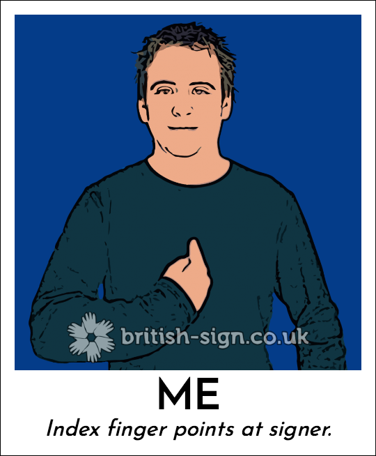 how to say me in sign language