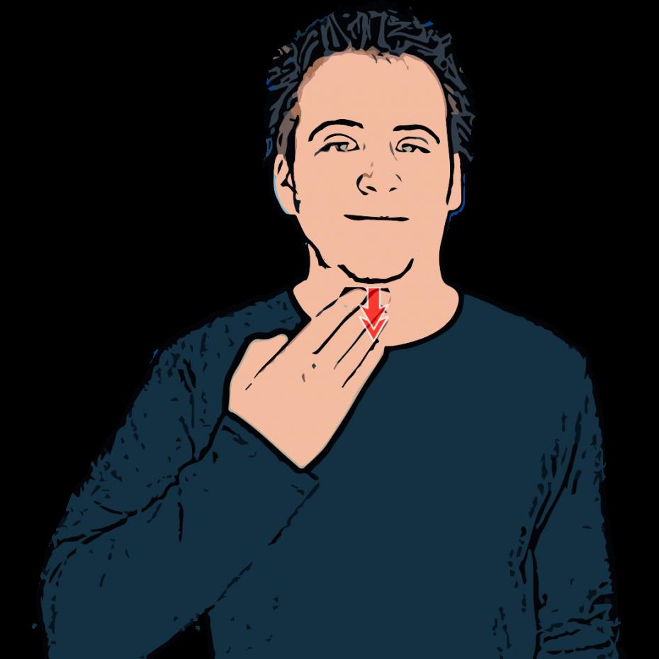 British Sign Language Dictionary Thirsty