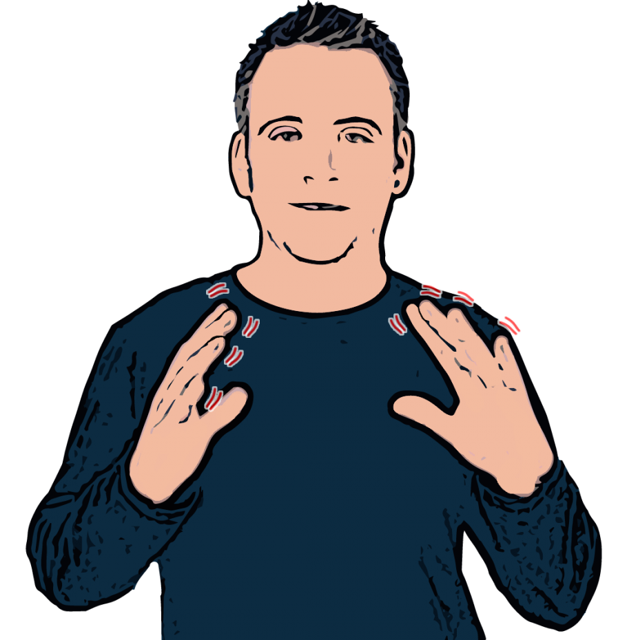 how to say leisure in sign language