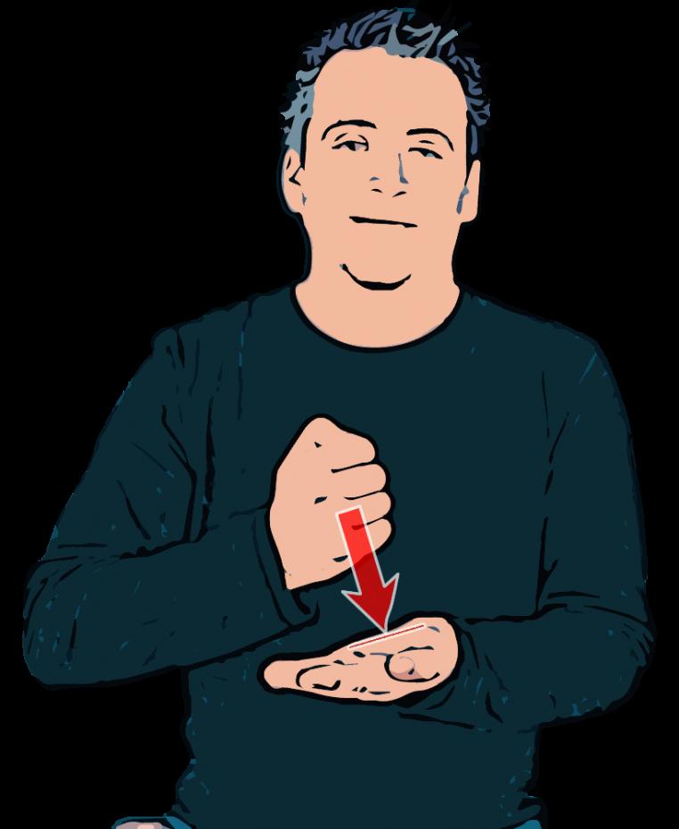 ASL sign for BANK   HandSpeak